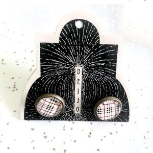 Vintage inspired plaid dome metal cuff links NWT